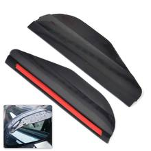 DWCX 2x Universal Car Black Acrylic Left + Right Flexible Rearview Side Mirror Cover Protect Water Rain Sun Guard Visor Shield(China)