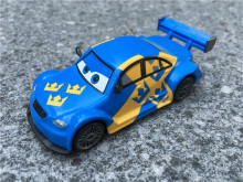 TT03-- Pixar Car Movie 1:55 Metal Diecast Jan Flash Nilsson Sweden Racer Super Chase Toy Cars New Loose