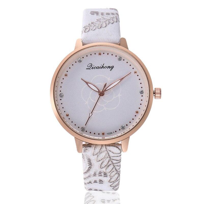 High Quality women fashion casual watch luxury dress ladies Leather Band Analog Quartz Round Wrist Watch clock bracelet M21 (6)