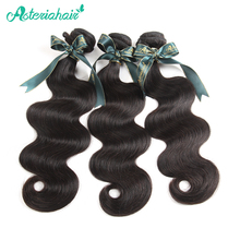 Asteria Hair Human Hair Bundle Brazilian Body Wave Hair Weaving Only 1 Piece 10-30 Inch Natural Black Non-Remy Hair Free Shiping