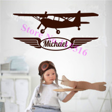 E501 Wall Stickers Home decor DIY poster Decal mural Vinyl Airplane Aircraft Planes Navy Warbird Wall Custom Name