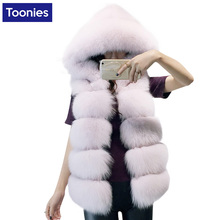 Faux Fur Coats Women New Fashion Thicken Women Sleeveless Faux Fur Vest 5 Colors Hooded Fur Vest Women Streetwear Fur Waistcoat