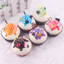 1pc Simulation Artificial Cake Ice Cream Craft Miniature Dollhouse Fairy Garden Craft  for cell phone decoration