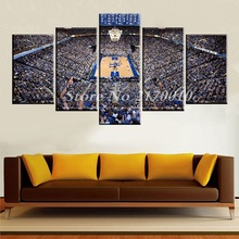 NewModern Home Artwork Poster Picture Grand basketball Stadium Canvas Unframed Popular Team Members 5piece Painting Bedroom Ball