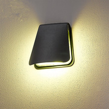 Waterproof aluminum outdoor led wall lamp modern European creative outdoor balcony door corridor garden lights lantern fitting