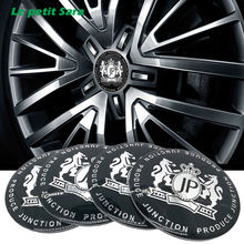 4pcs Car Styling VIP 56mm Alloy Tyre JP Car Tyre Steering Wheel Center Hub Cap Emblem Badge metal Sticker For BMW Nissan Opel MG(China)