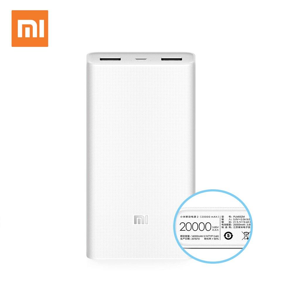 Xiaomi mi powerbank 2 20000 мАч power bank внешняя батарея micro usb портативный bateria externa портативное зарядное устройство 20000 мАч(China)