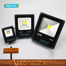 10W 20W 30W LED Flood light 110V220V Warm White Cool White Red Green Blue Waterproof Spotlight Projection lamp Home Garden light