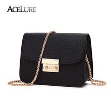 ACELURE Summer Brand Bags Women Leather Handbags Chain Small Women Messenger Bag Candy Color Women Shoulder Bag Party Lock Purse(China)