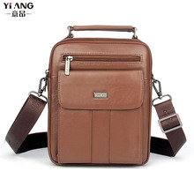 Men handBag Carry Genuine Messenger Cowhide fashion Business bag Leather Handbag Handbags