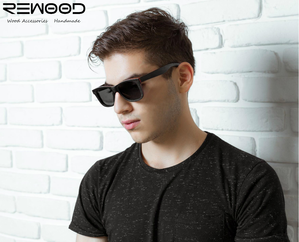 2017 Rewood Brand Designer Bamboo Sunglasses Women&amp;Men Wood Sunglasses Skateboard Wooden Retro Vintage Polarized Eyewear<br><br>Aliexpress