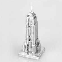 Starz Empire State Building 3D DIY Puzzles Metal Model Craft Stainless Steel Construction Kits Toys Gifts