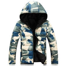 Winter Men Jacket 2017 Brand Casual Warmth Camouflage Mens Jackets And Coats Thick Parka Men Outwear XXXL(China)