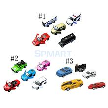 5Pcs/Set 1:64 Scale Alloy Model Car Pull Back Car Toy for Gift Collection Plastic Racing Car Truck Vehicle Toys