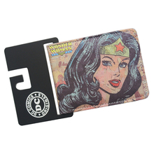 High Quality Popular DC Comic Wallets WONDER WOMAN Personality Design For Girls Short Slim Leather Purse Dollars Cards Billetera(China)