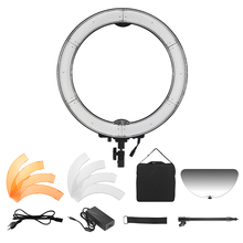 Andoer RL-680S Macro LED Ring Light Video Lamp 55W Dimmable 5500K 240pcs Beads with Filter Flexible Metal Pole Make-up Mirror