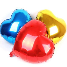"Hot Selling Brand New  7 Colors Colorful Heart Shape Balloons Wedding Birthday Party Helium Foil Balloons 18"" Romantic Balloons"
