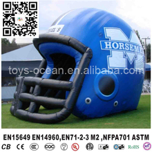 2017 Outdoor advertising inflatable football helmet for adults,  used inflatable sports tunnel