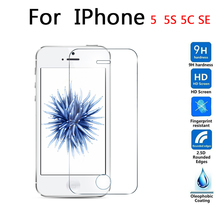 For Apple iphone 5 5s 5c SE Tempered glass Screen Protector 2.5d 9h Safety Protective Film on I5 I5S I5C