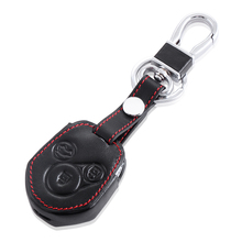 Leather Car Key Cover With Buckle For Subaru Forester Outback XV Legacy Etc Leather Smart Car keys Auto accessories