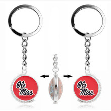 NCAA Ole Miss Sport Double Sided/Single Sided Key Chain 2017 Glass Pendant