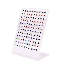 120 Holes Transparent Jewelry Display Earrings Ear Stud Holder Organizer Women Jewellery Display Rack Stands Showcase #46677(China)
