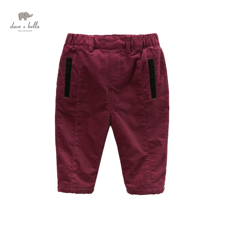 DB4815 dave bella winter children pants with fleece girls casual trousers<br><br>Aliexpress