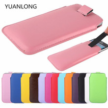 "Buy YUANLONG 5.5"" HOMTOM HT7 PRO, High Original Pull Tab PU Leather Case Pouch Sleeve Case Cover HOMTOM HT7 PRO for $2.17 in AliExpress store"