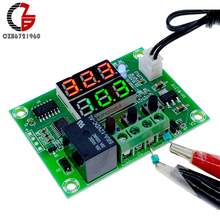 Buy W1219 DC 12V Dual Display LED Digital Thermostat Temperature Controller Temperature Control Relay Switch NTC Sensor for $2.72 in AliExpress store