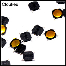 100Pcs Membrane 4*4*0.8mm SMD4 4x4x0.8 Touch micro Push Button Switch(China)