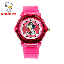 2017 Snoopy Kids Watch Children Watch Cool Cute Quartz Wristwatches Girls Sports Pink Water Resisitant
