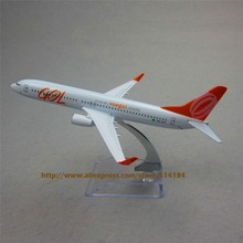 16cm Alloy Metal Model Plane Brazil Air GOL Airlines Boeing 737 B737 800 Airways Aircraft Airplane Model w Stand  Gift