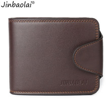 JINBAOLAI Men Short Type  Wallet Causal Credit Card Holder Coin Pocket  Coin Pocket Purse Wallet carteira masculina mens wallet