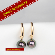 Super Simple Elegant Earrings Hooks Gold Color For Freshwater Pearl/Tahiti Pearl Jewelry S925 Sterling Silver Earrings Fittings