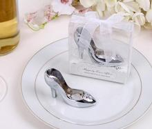 "(DHL,UPS,Fedex)FREE SHIPPING+50pcs/Lot+Bridal Party Favors""A Perfect Fit!""Chrome Slipper Opener Bachelorette Party Giveaway Gift"