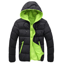 2017 The North Of Autumn Winter Fashion Men's Slim Casual Warm Jacket Hooded Winter Thick Coat Parka Overcoat Hoodie Face(China)