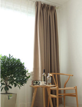 Solid color Blackout curtains Modern Bedroom Decorations Drapes Hooks top Thermal Insulated Window curtain panel(color of 7)