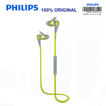 Philips SHQ7300 Sports Bluetooth Headphones with Neckband Microphone Wire Control Waterproof Headset for Iphone X Official Test(China)