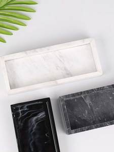 JINSERTA Storage-Tray Cosmetic-Organizer Jewelry-Display-Plate Marbled Rectangle Hotel