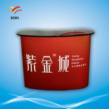 2*2 Folding Promotion Counter Pop Up Display Table For Trade Show Advertsing Used PVC Printing