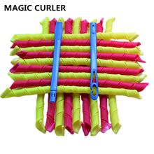 New Magic Hair Curlers Rollers 55cm 18pcs Long Hair Culers with Diameter 1.5cm Easy Use DIY Curls Magic Plastic Hair Rollers