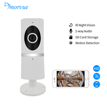 Amorvue 180 Degree Wireless WiFi IP Camera 720P HD 1.44 mm Fisheye Lens Micro SD Card Network Surveillance Night Vision Cam(China)