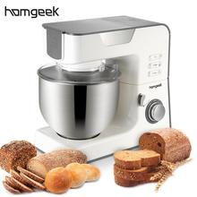 Homgeek 1000W 220-240V 1.34HP Professional Electric Stand Mixer Cooking Machine Household  Kitchen Stainless Steel Dough Mixer