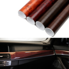30x100cm Glossy PVC Wood Grain Car Wrap Film Decal Wood Grain Textured Automobiles Internal Decoration Sticker DIY Car-Styling