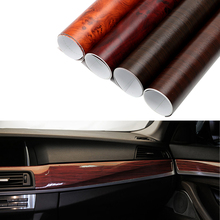 30x100cm Glossy PVC Wood Grain Car Wrap Film Decal Wood Grain Textured Automobiles Internal Decoration Sticker DIY Car-Styling(China)