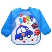 long sleeves baby girl boy bibs smock kids waterproof feeding bavoirs bebe apron clothes slabbers babador for baby children C020(China)