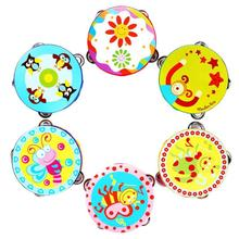 Hot New Kid New Gift Jingle Percussion Hand Bell Tambourine Musical Instrument Toy wholesale random color