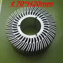 LED heatsink ,Diameter :70mm  H:20mm,aluminum heatsink , LED cooler  ,LED radiator