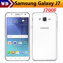 Original Samsung Galaxy J7 J700F Dual Sim Unlocked Cell Phone octa core 1.5GB RAM 16GB ROM Refurbished(China)
