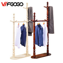 WFGOGO Home Furnishing Solid wooden Living Coat Rack Stands Scarves Hats Bags Clothes Shelf